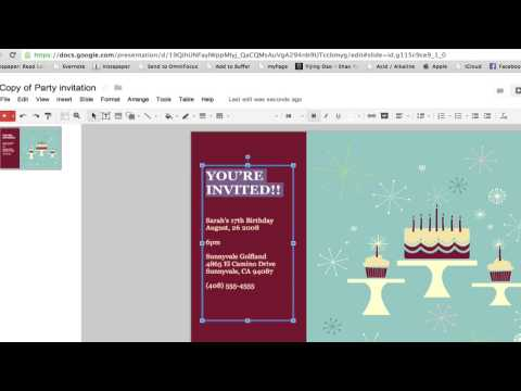 How to Create a Party Invitation in Google Documents : Google ...