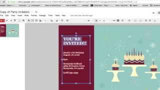 So Erstellen Sie eine Party-Einladung in Google-Dokumente : Google & Internet-Browser-Tipps