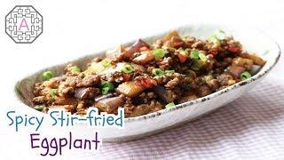 Chinese Style Spicy Sit-fried Eggplant / Aeriskitchen's Tip / Mukbang /한글자막