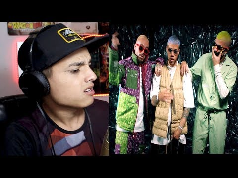 "[Reaccion] Jhay Cortez, J. Balvin, Bad Bunny – No Me Conoce (Remix) – ""Sismo en pleno Video"""