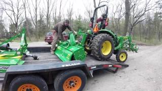 John Deere 3038e tractor - New equipment arrives