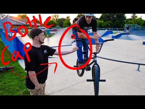 Bottle Cap Challenge BMX Barspin Edition