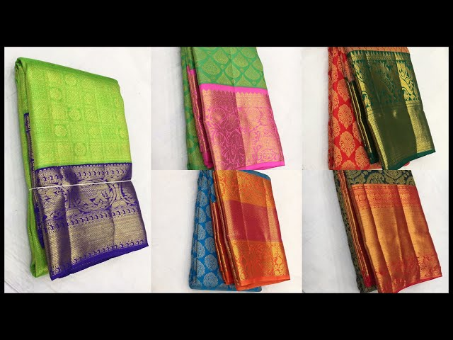Latest Wedding Silk Saree Collections From Kanchipuram