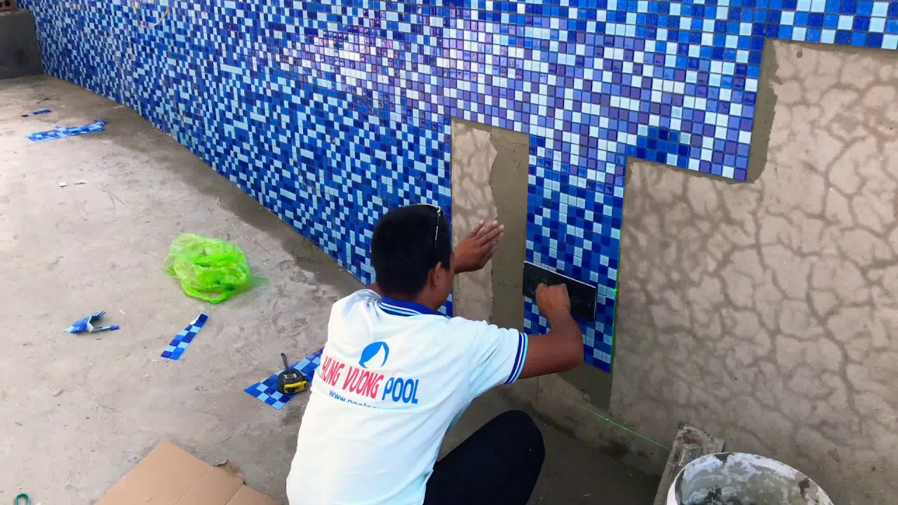 Thi công hoàn thiện MOSAIC bể bơi Hải Phòng – Quảng Ninh
