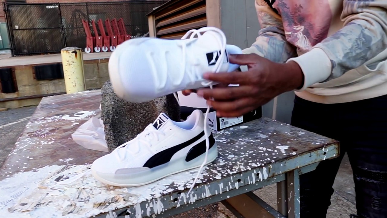 Puma Clyde Hardwood White Black Dope Or Nope On Foot Youtube