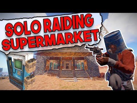 Solo RAIDING For Our SUPERMARKET INVENTORY! | Rust SUPER SHOP Series - Episode 3