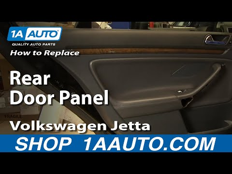 How to Replace Rear Inside Door Panel 05-10 Volkswagen Jetta