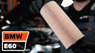 Kā nomainīt BMW 5 E60 motoreļļu un eļļas filtru [PAMĀCĪBA]