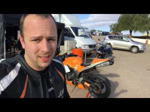 Circuit rijden met de motor in Cartagena Spanje - Vlog 5