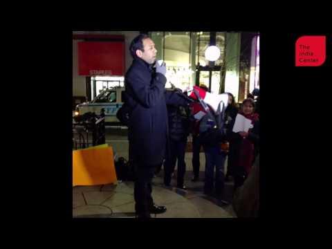 Remembering Srinivas Kuchibhotla   Raj Goyle speech at New York vigil