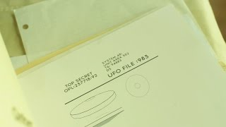 UFO file top secret classified government. Stock Footage