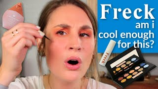 33 YEAR OLD TRIES FRECK BEAUTY | Faux Freckles, Cheek Slime + UFOMG Palette