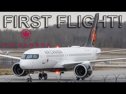 *FIRST FLIGHT!!!* Air Canada Airbus A220-300 (BCS3) In Action In Montreal (YMX/CYMX)