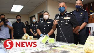 Cops bust two drug rings in Muar, seize over RM4mil worth of drugs