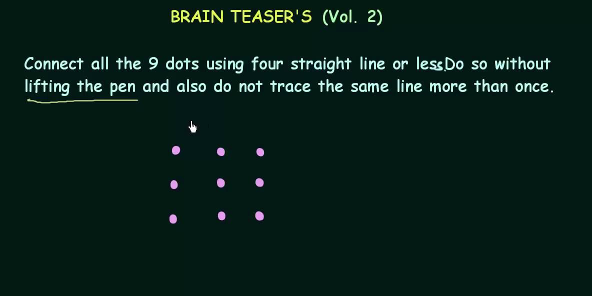 Nine Dots & 4 Lines - YouTube