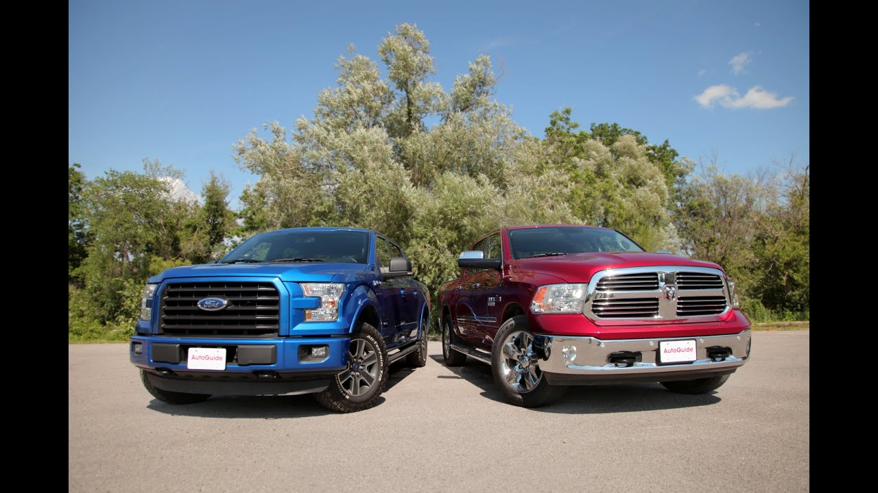 2015 ford f 150 2 7l ecoboost vs 2015 dodge ram 1500 ecodiesel comparison youtube