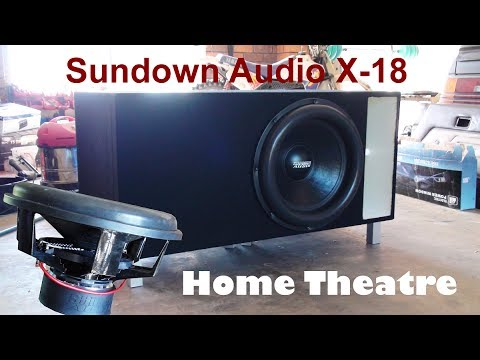 18 Home Theater Subwoofer Box Build Sundown Audio X