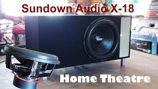 "18"" Home Theater Subwoofer Box Build - Sundown Audio X-18"