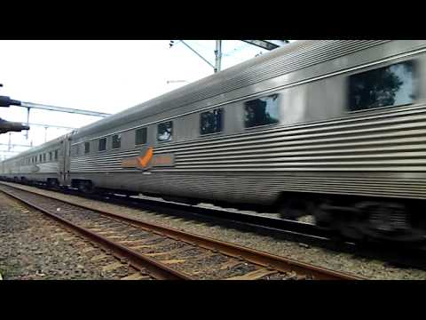 Indian Pacific Tourist train passes through Summer Hill
