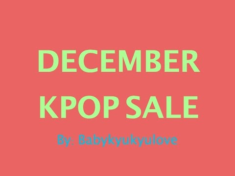 [CLOSED!! Check New Update] December KPOP Sale [Photocards, CDs, Merchandise]