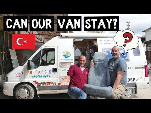VAN LIFE reality, Can we stay in TURKEY? Trudy visits CUSTOMS !