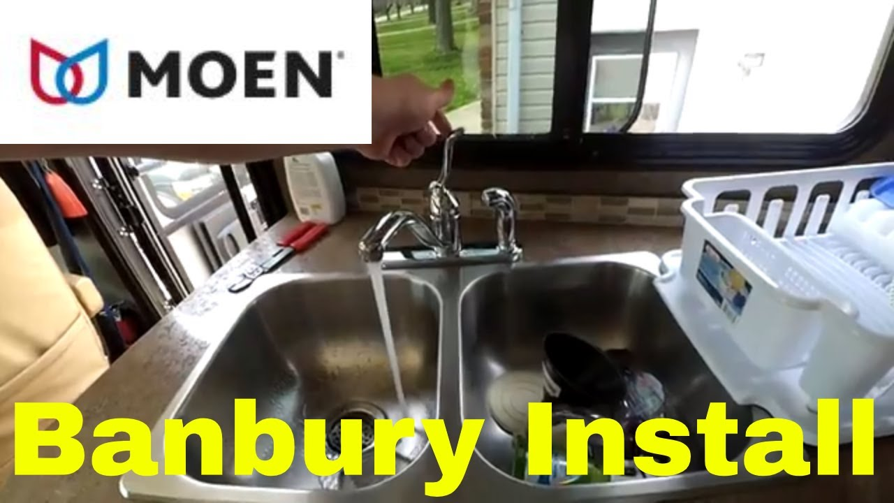 Moen Banbury Faucet Install Fleetwood Bounder 36r Youtube