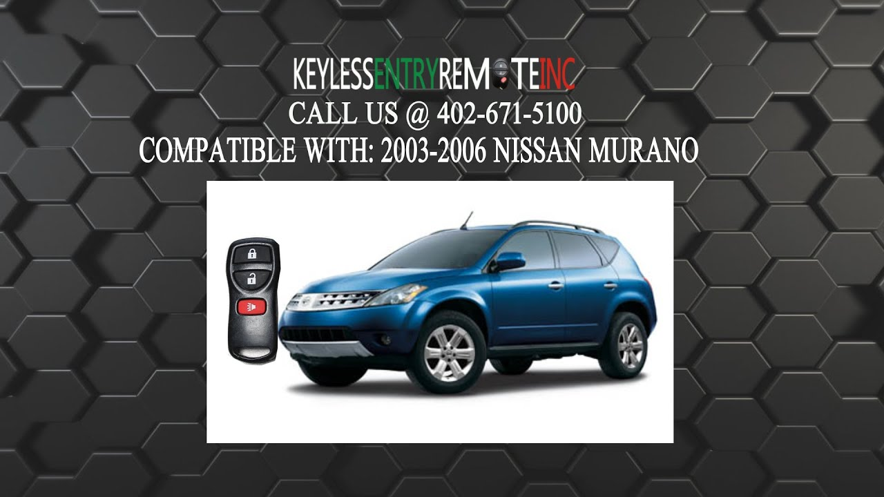 How To Replace Nissan Murano Key Fob Battery 2002 2003