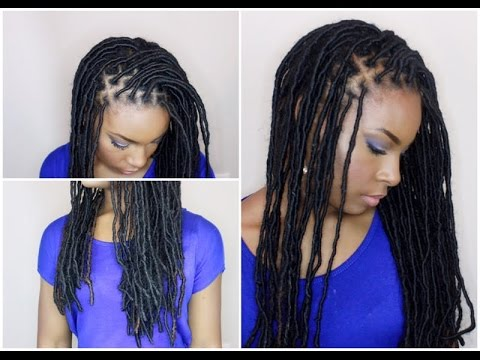 How To Natural Looking Faux Locs Youtube
