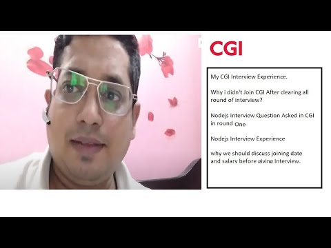 CGI interview experience Round one   cgi interview process for experienced   cgi test pattern 2021