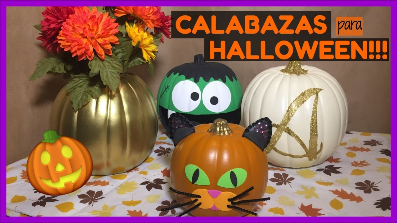 C mo decorar calabazas para halloween s per f ciles de for Como decorar una calabaza original