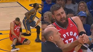Draymond Green Breaks Jonas Valanciunas' Thumb! Warriors vs Raptors Injury
