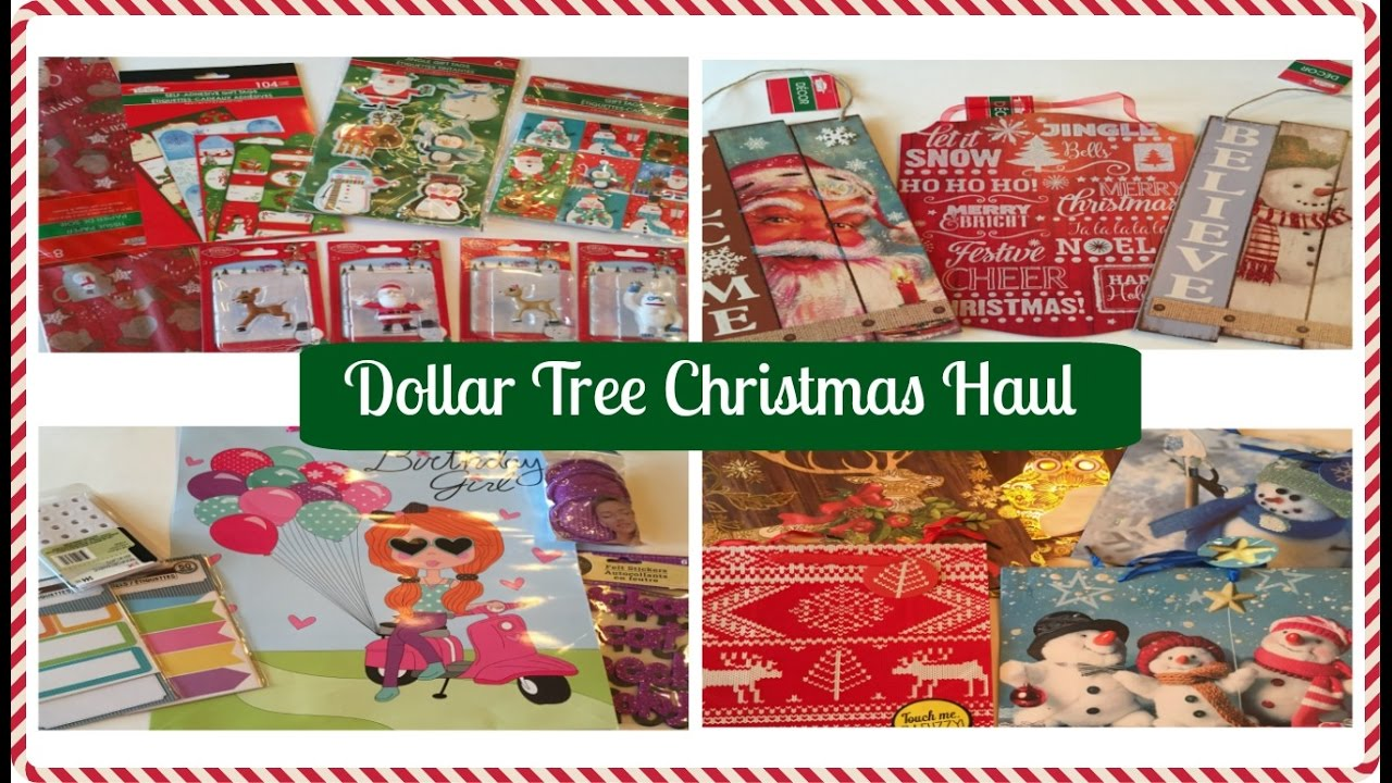 DOLLAR TREE Christmas Haul! | 2016 - YouTube
