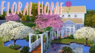 Pink & White Floral Build - House Build - The Sims 4