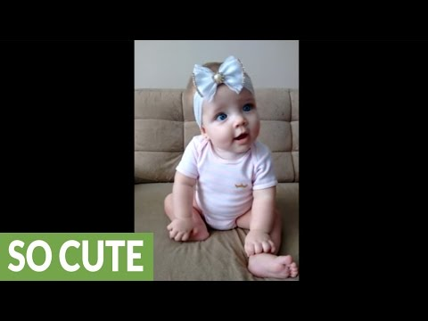 Cutest baby ever loves her music - Watch her dance!
