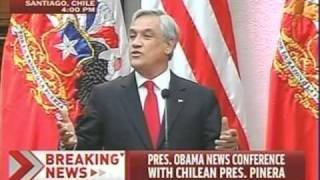 Chilean President Talks New International Order, Calls For Full Americas Integration  Like E.U