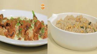 شيش طاووق بالجبنة الكريمية - أرز بالسبانخ والحمص - حلا الفول السوداني  | اتفضلوا عندنا حلقة كاملة