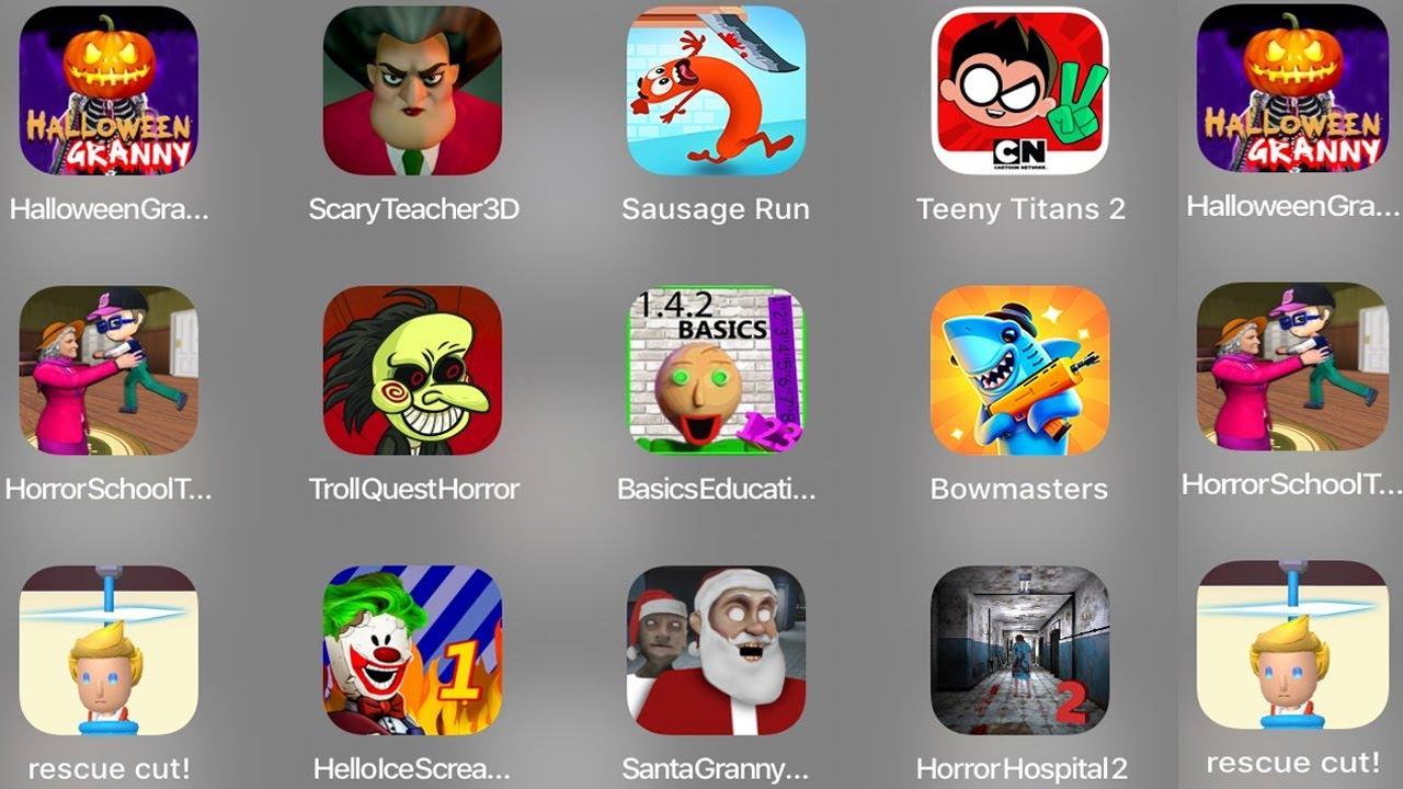 Teeny Titans 2,Halloween Granny,Scary Teacher 3D,Sausage Run,Horror School,Troll Quest Horror, Basic