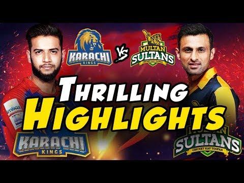 Karachi Kings Ka Bharam | Thrilling Highlights Between Karachi Kings And Multan Sultans | PSL 2018