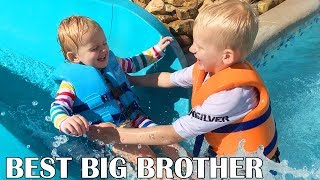 Michael Catches Baby Owen at Water Park...Then This Happens