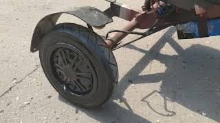мой самодельный трицикл с колес от гироскутера