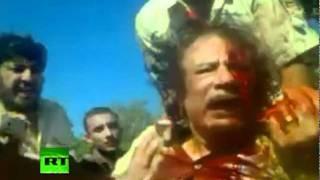 ATENCIÓN: ¡IMÁGENES VIOLENTAS! Gaddafi herido, las imágenes antes de su muerte