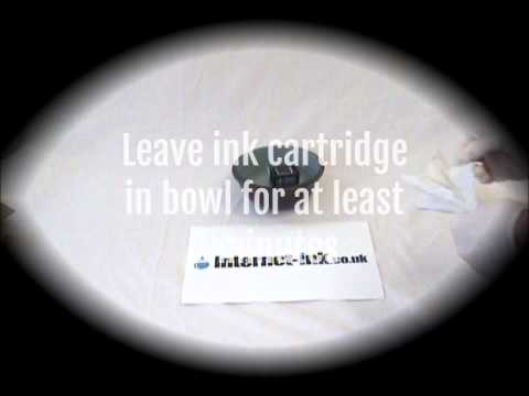 How to clear a clogged or blocked HP ink cartridge