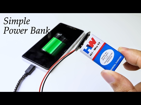 How To Make Power Bank Using Battery at Home - Very Simple DIY