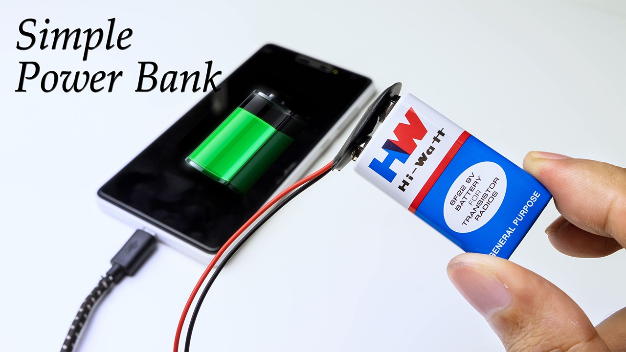 How To Make Power Bank Using Battery At Home Very Simple