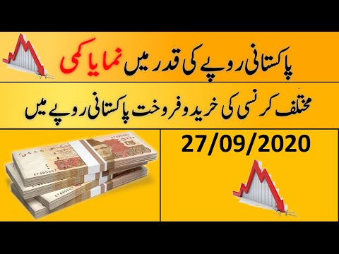 Today's Open Market Currency Rates In Pakistan |PKR Exchange Rate| 27th September 2020