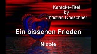 Ein bisschen Frieden - Nicole - Karaoke