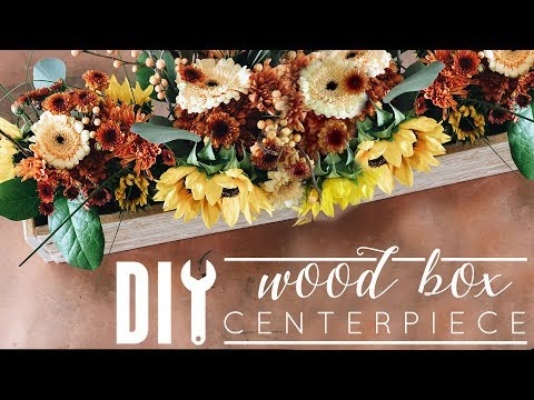 DIY Wood Box | Fall Centerpiece Idea