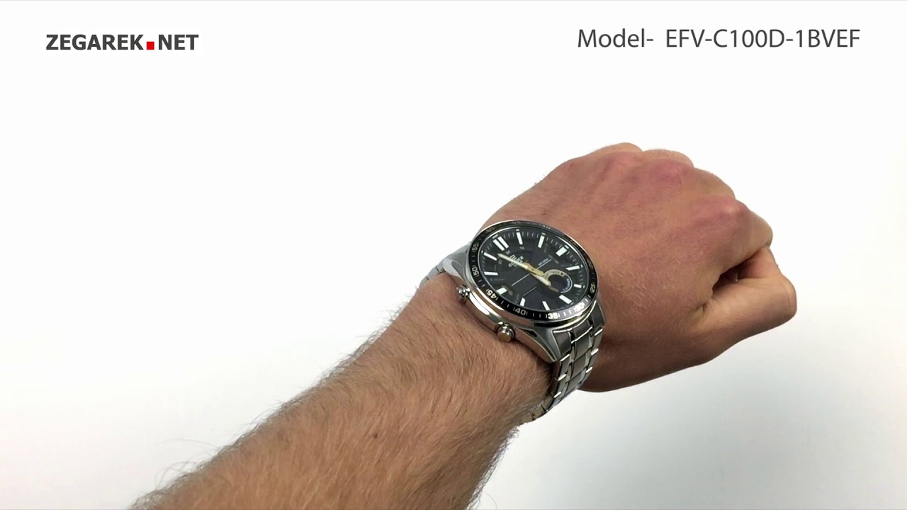 Casio Edifice Momentum Efv C100d 1bvef Sporty Lcd Chronograph Zegarek Net Youtube
