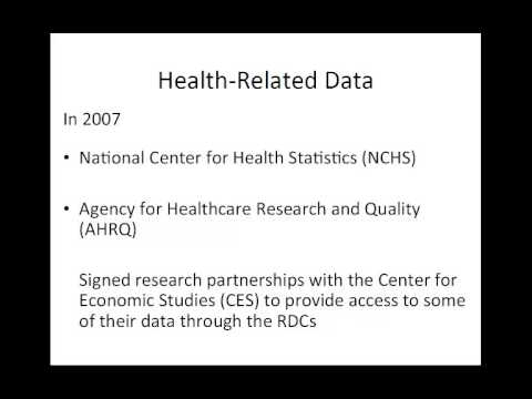 Texas Census Research Center Proposal Workshop - Datasets Frequently Requested at Census Data Resear