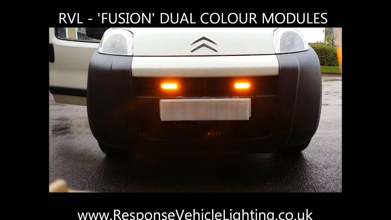 Directional,12 LED UK Super Bright Grill DUAL COLOUR LED Warning Light